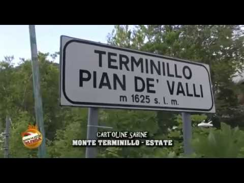 CARTOLINE SABINE. MONTE TERMINILLO – ESTATE